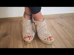 Örgü ayakkabı yapımı #hobi #tasarim #elemegi - YouTube Crochet Shoes, Knit Crochet, Make Your Own Shoes, Crochet Videos, Huaraches, Barefoot, Outfit Of The Day, Espadrilles, Peep Toe