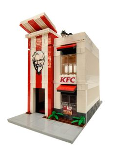 Kfc, Legos, Lego Food, Lego Sculptures, Lego Modular, Modular Homes, Amazing Lego Creations, Lego Pictures, All Lego