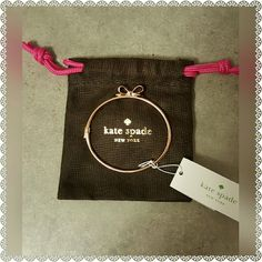NWT KATE SPADE BOW BRACELET NWT ROSE GOLD KATE SPADE BOW BRACELET. DUSTBAG INCLUDED.   SAME OR NEXT DAY SHIPPING. kate spade Jewelry Bracelets