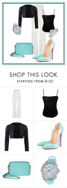 """Apologizing"" by xan86 ❤ liked on Polyvore featuring Yves Saint Laurent, Jean Muir, Narciso Rodriguez, Christian Louboutin, Michael Kors, Jacob & Co. and Tiffany & Co."