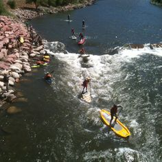 Paddle Boarding the Colorado River, Glenwood Canyon