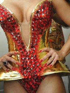 The power pose! Showgirl Costume, Circus Costume, Carnival Costumes, Beautiful Costumes, Fantasy Costumes, Belly Dance Costumes, Gymnastics Leotards, Showgirls, Costumes For Women