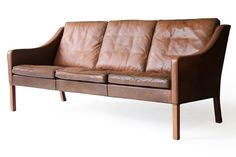 Børge Mogensen #2209 Fredericia Leather Sofa - Click for more images