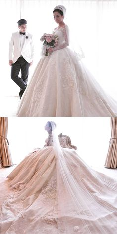 A bespoke ballgown, towering castle cake and an enchanted garden-themed ballroom. You need to see the grand wedding of Indonesian celebrities Glenn Alinskie and Chelsea Olivia Wijaya. {Facebook: The Wedding Scoop}