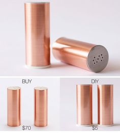 Copper Salt + Pepper Shakers | 18 Life Hacks Every Girl Should Know | Easy DIY Projects for the Home