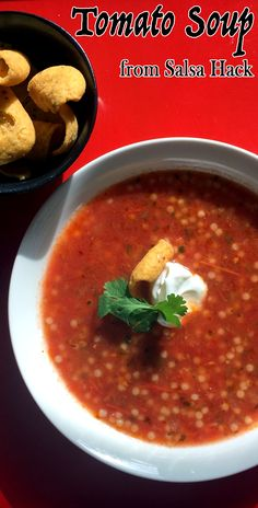 This salsa hack is a super fast way to make an excellent, fresh tomato soup.