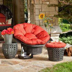 Outdoor Papasan Chair Cushion - Home Furniture Design Wicker Furniture, Outdoor Furniture Sets, Furniture Design, Furniture Ideas, Wicker Dresser, Garden Furniture, Wicker Headboard, Wicker Bedroom, Papasan Chair