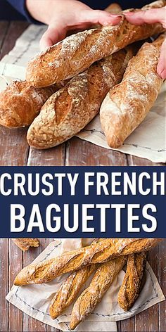 French Baguette Recipe Crusty French Baguettes: I could not believe how great these came out. And they were pretty easy to make!Crusty French Baguettes: I could not believe how great these came out. And they were pretty easy to make! Crusty French Baguette Recipe, Homemade Baguette Recipe, Sourdough Baguette Recipe, Gluten Free French Baguette Recipe, Authentic French Baguette Recipe, Crusty Garlic Bread Recipe, Baguette Recipe Bread Machine, Vegan French Bread Recipe, Healthy Recipes