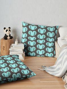 """Giraffes in a blue heart "" Floor Pillow by Mandsred1 | Redbubble"