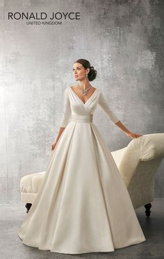 RONALD JOYCE INTERNATIONAL - Wedding dresses and bridal gowns More #Elegantweddinggownsanddresses