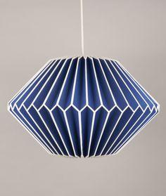 Ian Snow Blue Paper Lampshade - Trouva