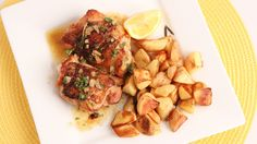 Lemon Roasted Chicken Thighs by Laura Vitale