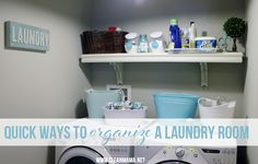 Quick Ways to Organize a Laundry Room via Clean Mama