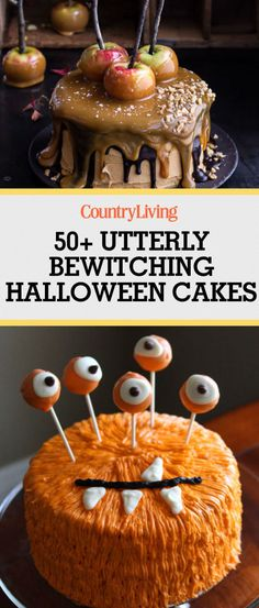 Save these halloween cake ideas for later by pinning this image and follow Country Living on Pinterest for more.