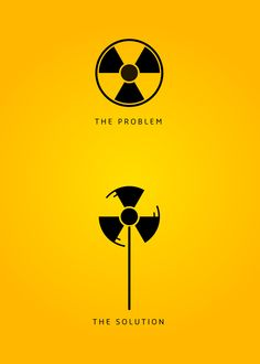 """The Problem and The solution"" by Flavio Carvalho (Brazil). Good50x70. 2009, Nuclear Emergency brief."