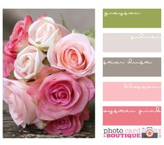 pink and gray with a touch of green?