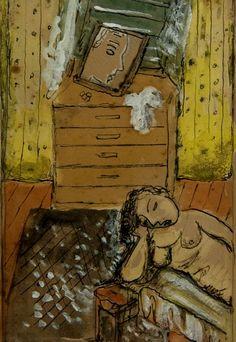 Pintura de Lasar Segall que pode ser vista no Salão de Arte (Foto: Divulgação)