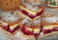 Krémový slivkový koláč - Mňamky-Recepty.sk Hungarian Desserts, Hungarian Recipes, Yummy Treats, Delicious Desserts, Yummy Food, Cookie Recipes, Dessert Recipes, Czech Recipes, Baking And Pastry