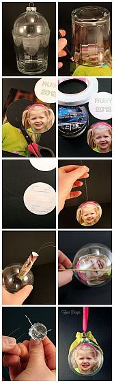 DIY Glass Photo Ornament