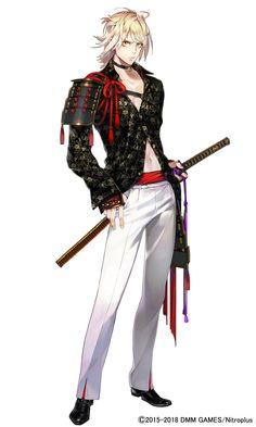 """刀剣乱舞-本丸通信-【公式】 在 Twitter:""""【新刀剣男士 南泉一文字(なんせんいちもんじ)】(2/2) 「へへへ、カチコミ隊長ってかぁ。オレにまかせ……にゃ!」(cv.河西 健吾) #刀剣乱舞 #とうらぶ #新刀剣男士… """" Cool Anime Guys, Hot Anime Boy, Anime Warrior, Fantasy Warrior, Anime Arms, Espada Anime, Touken Ranbu Characters, Chica Cool, Fantasy Heroes"""