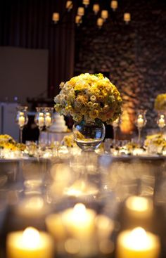 gold wedding lights flowers table scapes events party