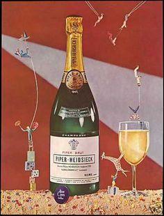 Piper Heidsieck Champagne 1945 Vintage Bottle (1951)