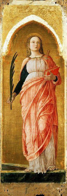 Andrea Mantegna; St. Justina, c. 1453