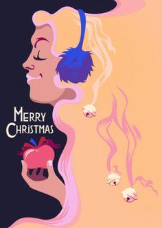 Merry Christmas! by Pirita Tolvanen #christmas #illustration #vectorillustration