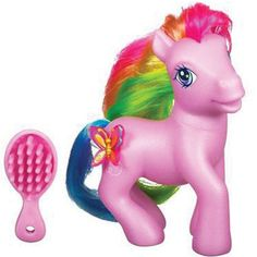 My Little Pony. I have many of these in my basement. I need to go get them out to look at someday. I bought them for my daughter, Mary when she was little in the eighties. She told me not long ago that she never cared for them but let me buy them for her because she knew I liked them.