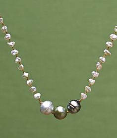 Tahitian Pearl necklace from Amy Grace Jewelry