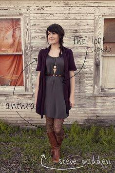 this outfit is amazing. love the patterned tights and the long sweater! perfect necklace to make it all pop!