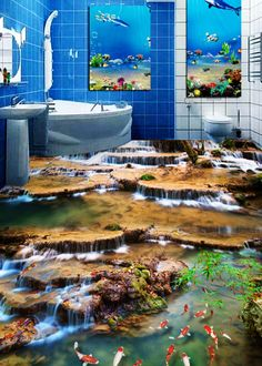 3D Mountain River 2 Floor WallPaper Murals Wall Print Decal 5D AJ WALLPAPER #AJWALLPAPER