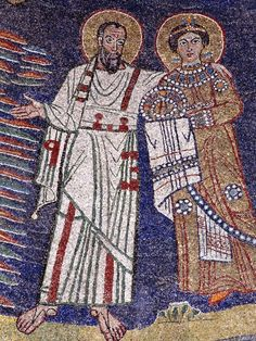 Basilica Santa Prassede, Roma. Il mosaico absidale. I mosaici nello stile bizantino. 817-826. Il periodo dei Carolingi