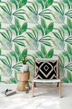 Palm Leaves Wallpaper Home Decor Tropical Temporary