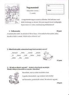 HELYESÍRÁSI VERSENY 2. OSZTÁLY - tanitoikincseim.lapunk.hu Homeschool, Personalized Items, Education, Reading, Life, Studying, Reading Books, Onderwijs, Homeschooling