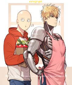 Saitama and Genos ||| One Punch Man Fan Art