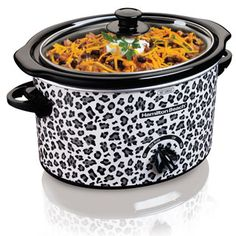 For the animal print lover - the 3 Quart Cheetah Slow Cooker (33239). Only $19.99! http://www.hamiltonbeach.com/products/all-slow-cookers-3-quart-slow-cooker-33239.html