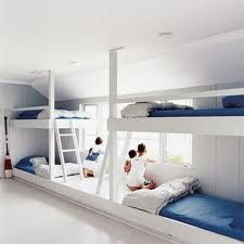 custom white double bunk beds