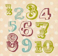 numbers print by paula mills