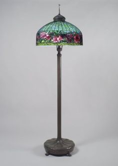 Tiffany Studios (1902-1932). Lamp, ca. 1910. Bronze, glass, lead, Height: 80 1/2 in. (204.5 cm). Brooklyn Museum, Bequest of Laura L. Barnes, 67.120.49a-b. Creative Commons-BY