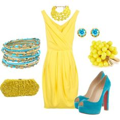 Two HUGE colors for spring and summer - yellow and turquoise (throw in some mint green for a J. Crew touch)