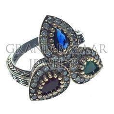 Ethnic Turkish Silver Jewelry by Grand Bazaar Jewelers #GBJ1455