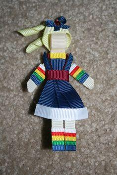 rainbow brite hair bow