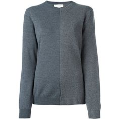 Stella McCartney Contrast Knitted Panel Jumper ($450) ❤ liked on Polyvore featuring tops, sweaters, blue long sleeve top, stella mccartney top, long sleeve sweater, stella mccartney sweater and jumpers sweaters