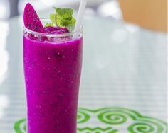 Dragon Fruit Juice Blend Recipe This superfruit is loaded with fiber and vitamin C, and calcium.
