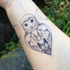 Owl Goddess Temporary Tattoo Owl Goddess Tattoo by OctaviaTattoo