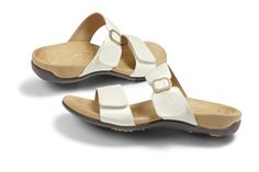 23e024689781 Vionic Camila Women s Slip on Sandals - a great looking sandal with  Orthaheel Orthotic arch