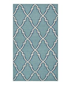 Love this Light Blue & Ivory Jarvis Handwoven Wool Rug on #zulily! #zulilyfinds