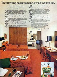 70s Holiday Inn room. I just can't get over how this look was once...new and clean and fresh.