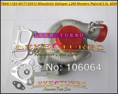 TD04 49177-02512 Water Cooled Turbo Turbocharger For Mitsubishi L200 Montero Pajero II For Hyundai Galloper T 4D56Q EC 4D56 2.5L #Affiliate